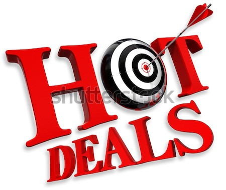 best offer red logo Stock photo © donskarpo
