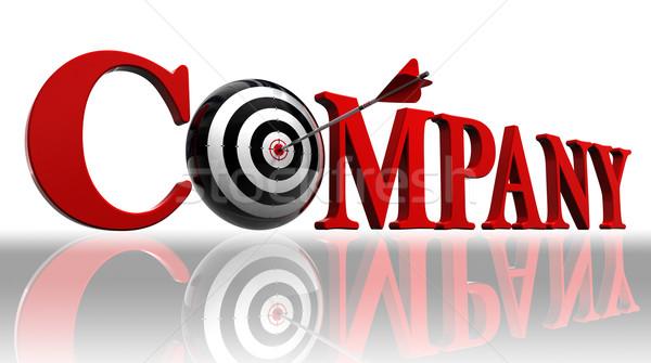 Сток-фото: компания · красный · слово · целевой · стрелка · белый