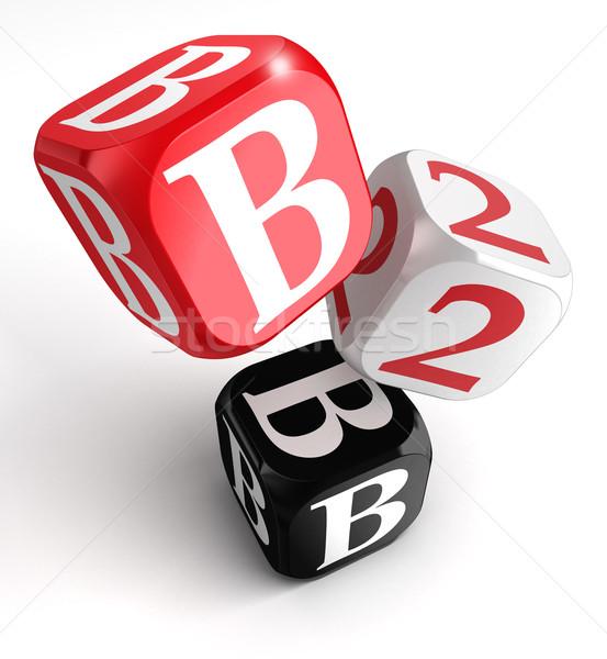 B2b czerwony biały czarny bloków polu Zdjęcia stock © donskarpo
