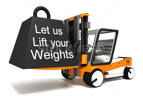 let us lift your weights  Stock photo © donskarpo