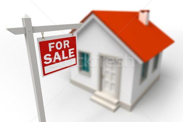 Home For Sale Real Estate red sign Stock photo © donskarpo