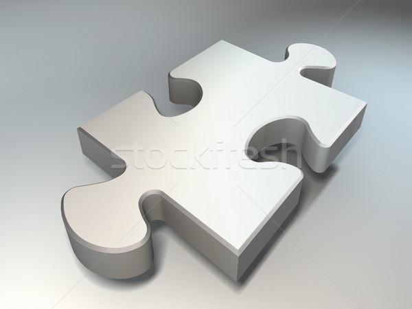 Kirakós játék darab fehér kék háttér űr Stock fotó © donskarpo