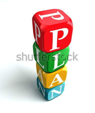 Stock photo: on air 3d colorful box tower