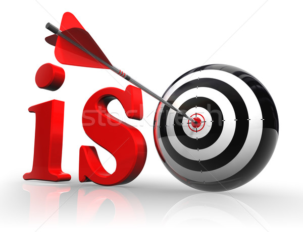 iso red word with target  Stock photo © donskarpo
