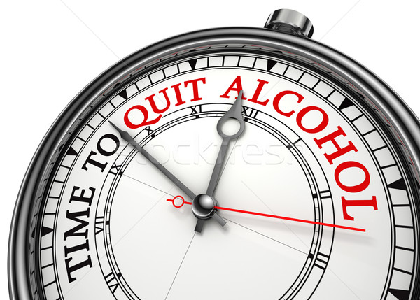 time to quit drinking alcohol Stock photo © donskarpo