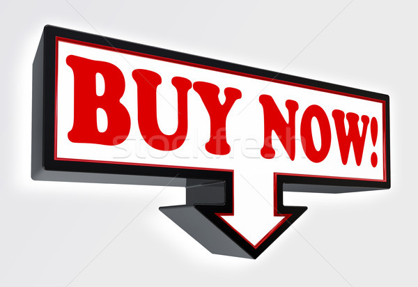 buy now red and black arrow sign  Stock photo © donskarpo