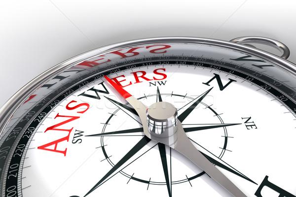 the way towards answers concept compass Stock photo © donskarpo