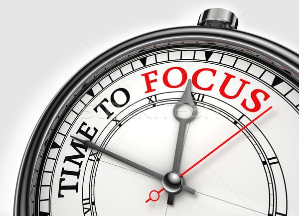Foto d'archivio: Tempo · focus · clock · primo · piano · bianco · rosso