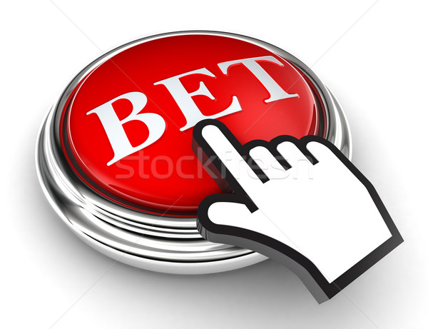 bet red button and pointer hand Stock photo © donskarpo