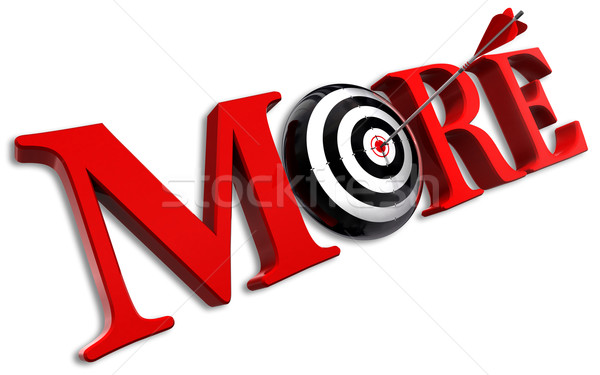 more red word and conceptual target Stock photo © donskarpo