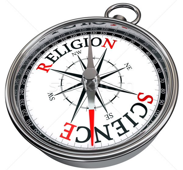 science versus religion concept compass Stock photo © donskarpo