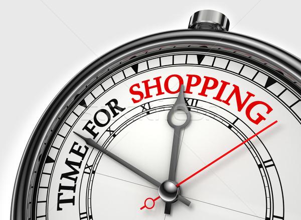 Сток-фото: время · торговых · часы · белый · красный
