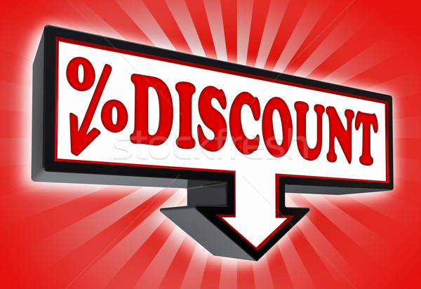 discount red and black arrow sign  Stock photo © donskarpo