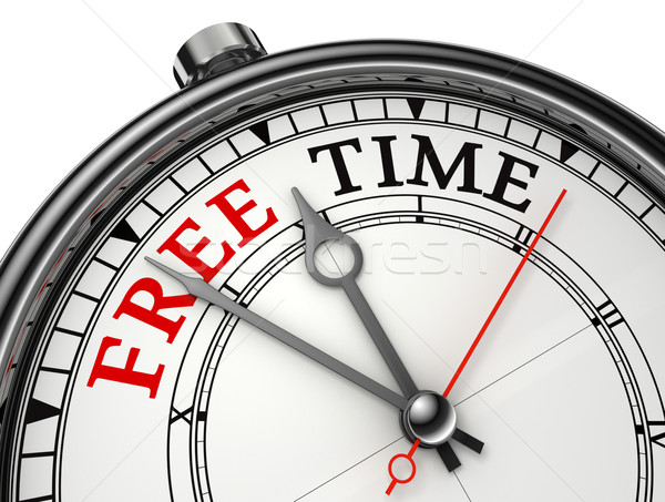 free time concept clock Stock photo © donskarpo