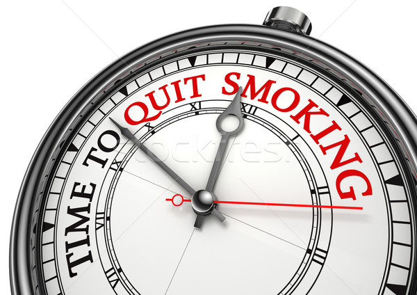 time to quit smoking Stock photo © donskarpo