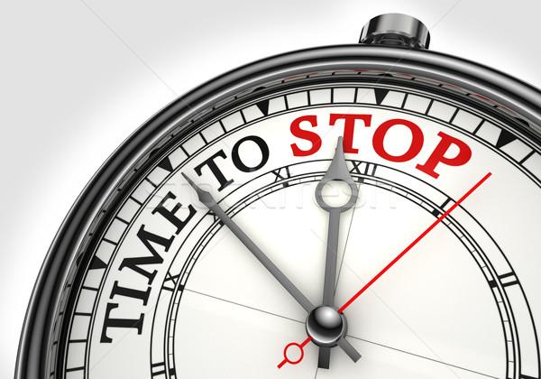 time to stop concept clock Stock photo © donskarpo