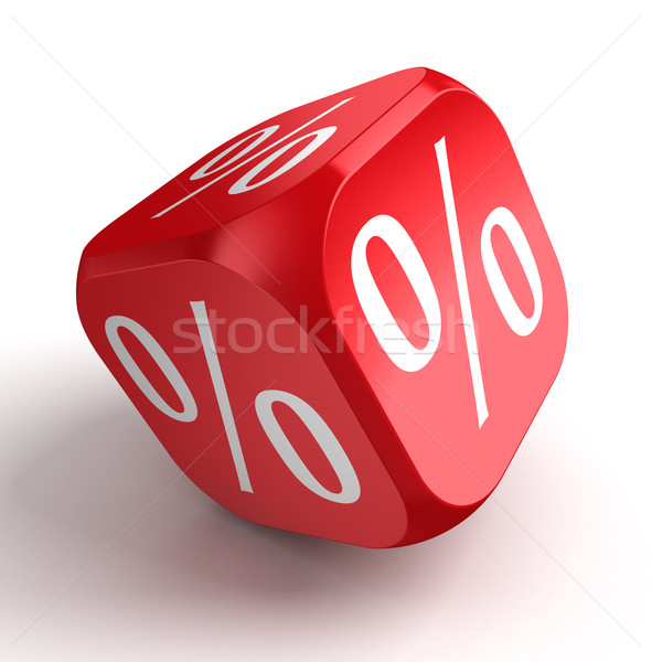 per cent conceptual red dice  Stock photo © donskarpo