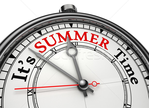 summer time concept clock Stock photo © donskarpo