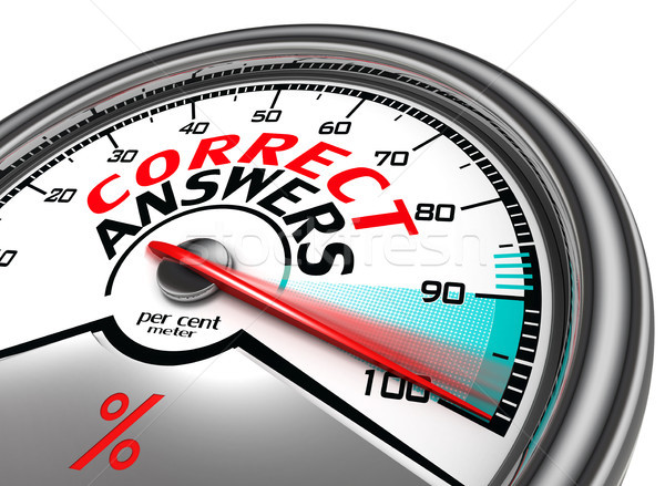 correct answers conceptual meter Stock photo © donskarpo