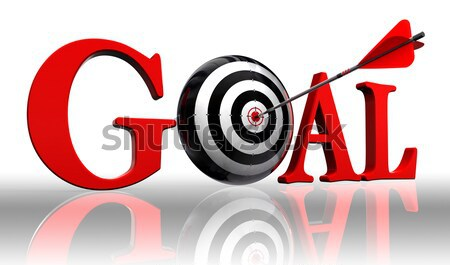 go on red words and conceptual target  Stock photo © donskarpo