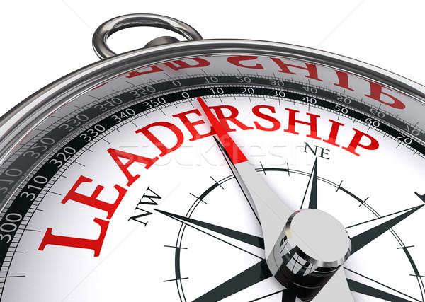 ストックフォト: リーダーシップ · コンパス · 赤 · 言葉 · 画像 · 白