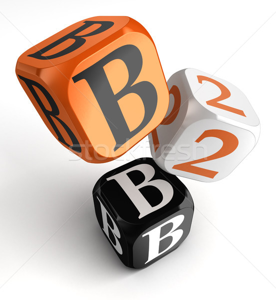 b2b orange black dice blocks  Stock photo © donskarpo