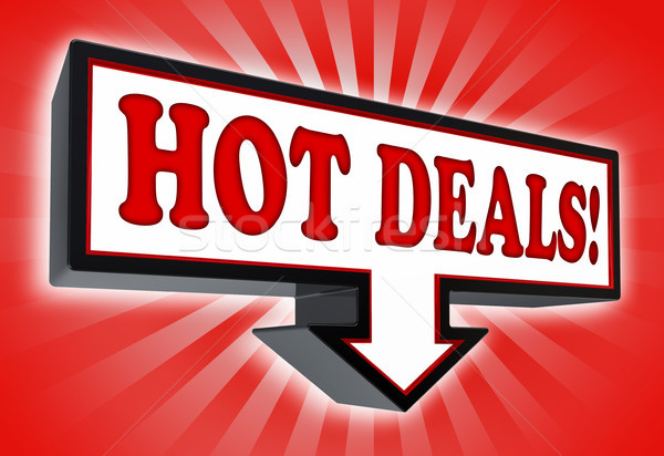 hot deals money red and black arrow sign  Stock photo © donskarpo