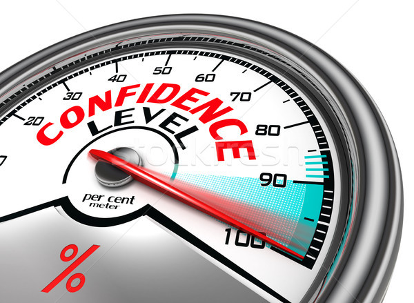 confidence level conceptual meter Stock photo © donskarpo