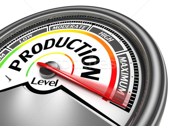 Produktion maximale isoliert weiß Business Design Stock foto © donskarpo
