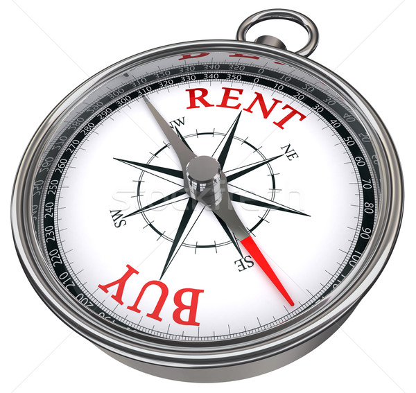 buy versus rent concept compass Stock photo © donskarpo