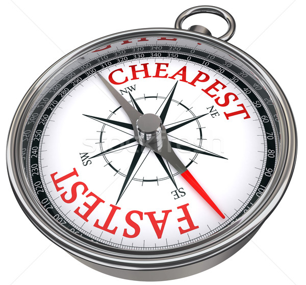 fastest versus cheapest concept compass Stock photo © donskarpo