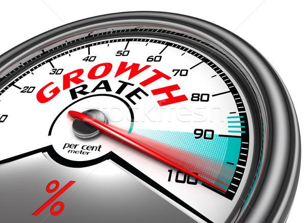 growth rate conceptual meter Stock photo © donskarpo
