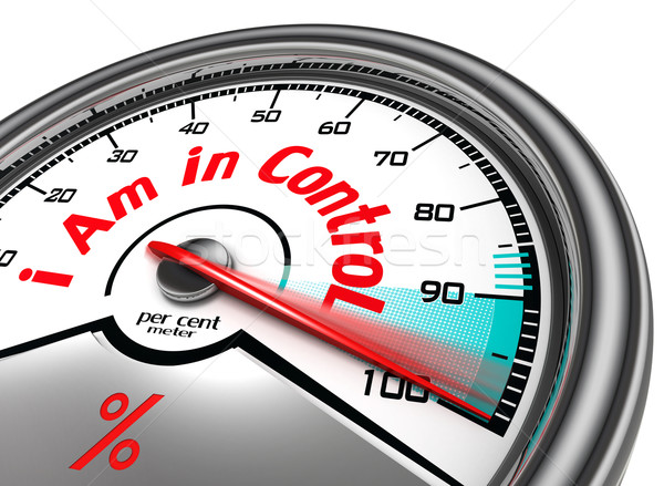 i am in control conceptual meter Stock photo © donskarpo