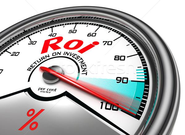 Roi terugkeren investering cent geïsoleerd Stockfoto © donskarpo