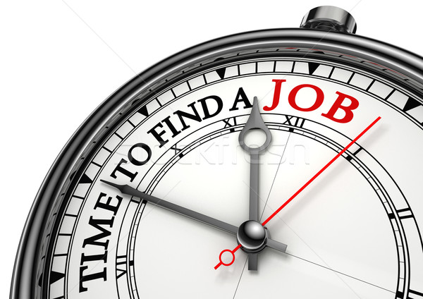 time to find a job concept clock Stock photo © donskarpo
