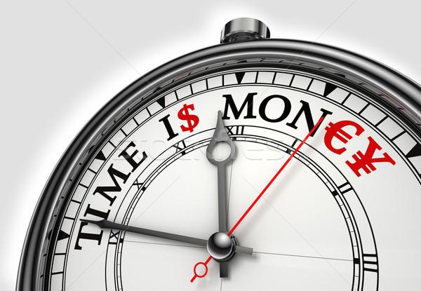Время-деньги часы белый красный черный Сток-фото © donskarpo