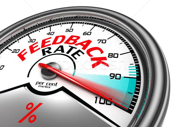 feedback rate meter Stock photo © donskarpo