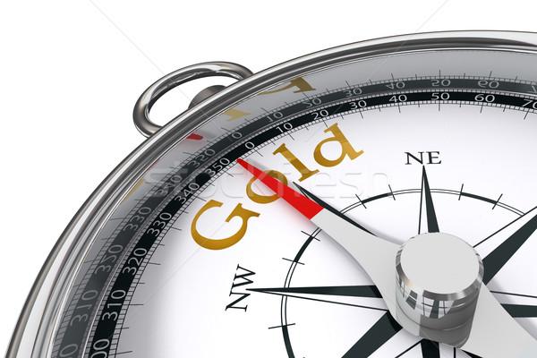 Сток-фото: золото · компас · направлении · белый · дизайна · фон