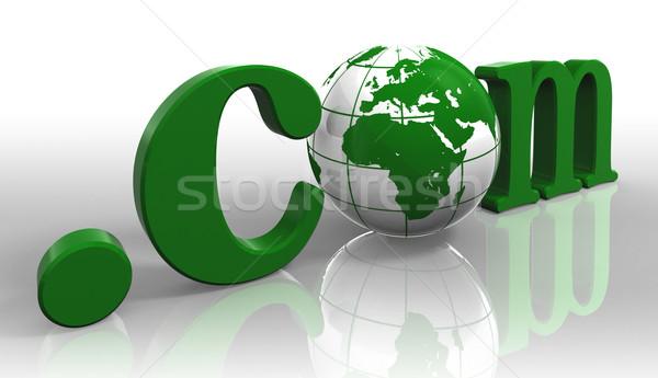 Logo groene woord aarde wereldbol Stockfoto © donskarpo