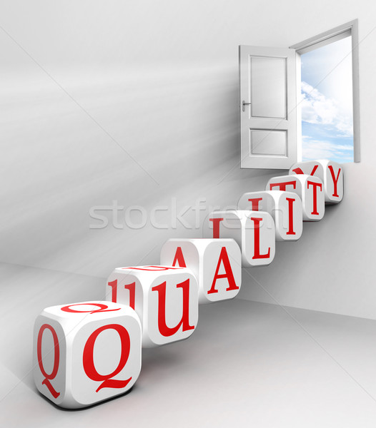 quality conceptual door Stock photo © donskarpo