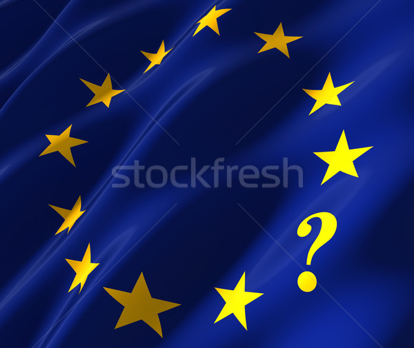 eu flag with questionmark Stock photo © donskarpo