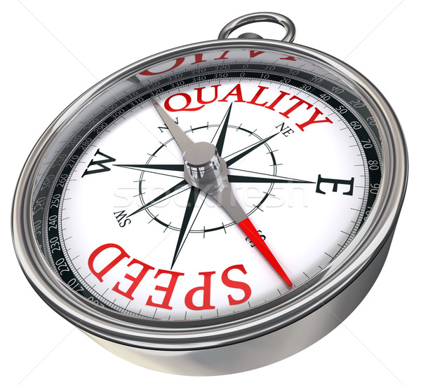 quality versus speed concept compass Stock photo © donskarpo