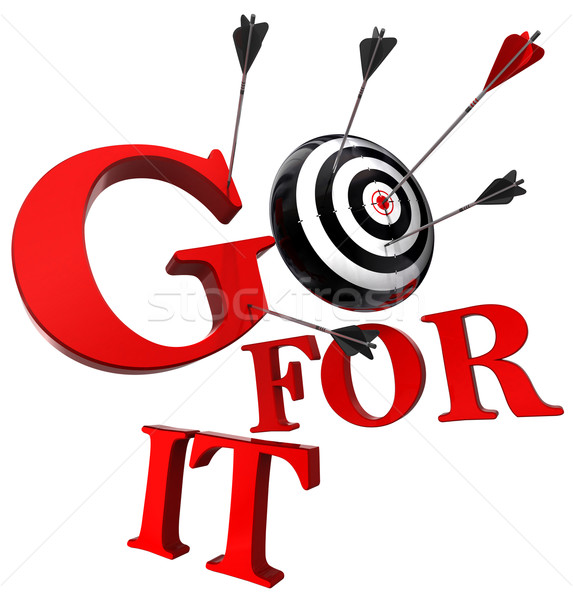 go for it red words and conceptual target  Stock photo © donskarpo