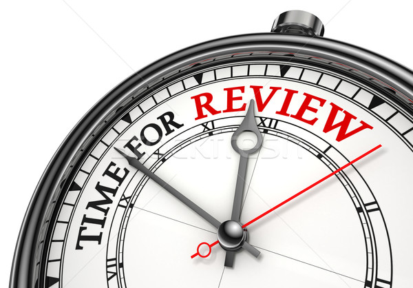 time for review concept clock Stock photo © donskarpo