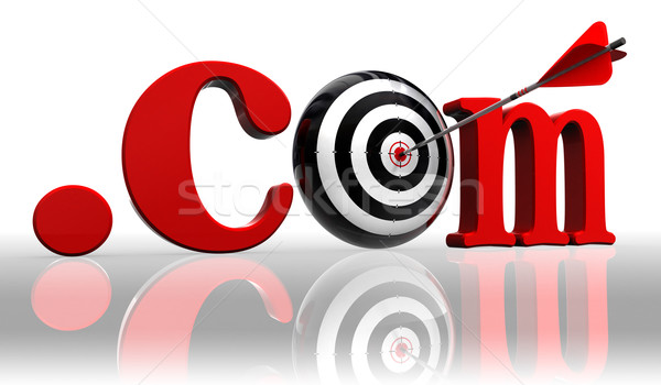 dot com red word and conceptual target Stock photo © donskarpo