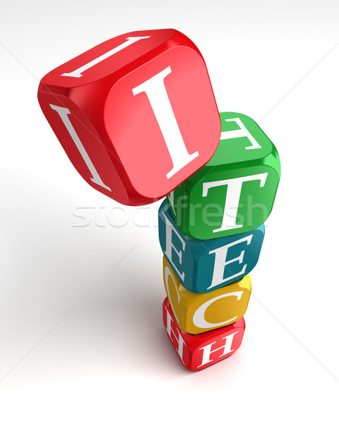 internet technology 3d colorful buzzword Stock photo © donskarpo