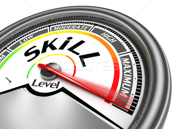 skill level conceptual meter Stock photo © donskarpo