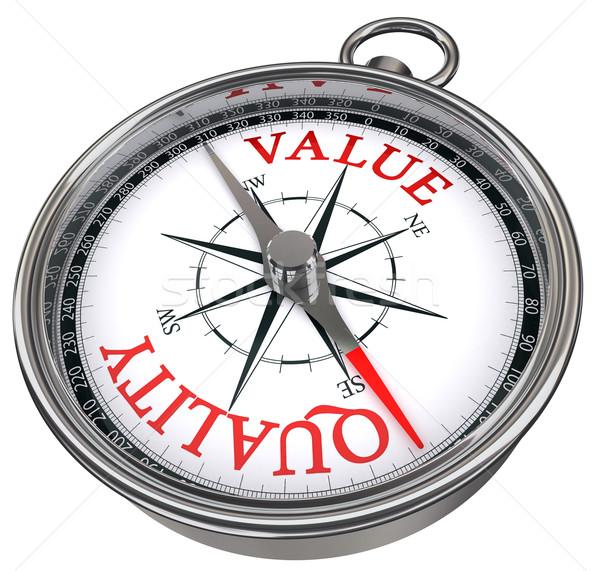 quality versus value concept compass Stock photo © donskarpo