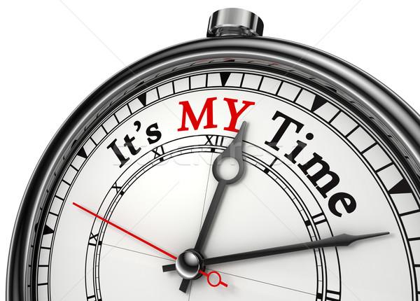 my time concept clock Stock photo © donskarpo