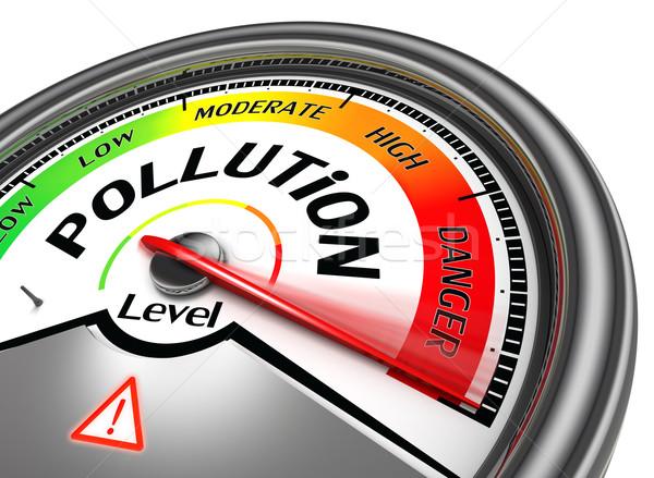 pollution level conceptual meter Stock photo © donskarpo